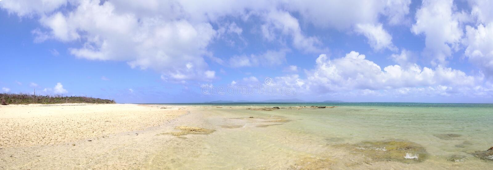 Clear water beach of Okinawa island in Japan. stock images