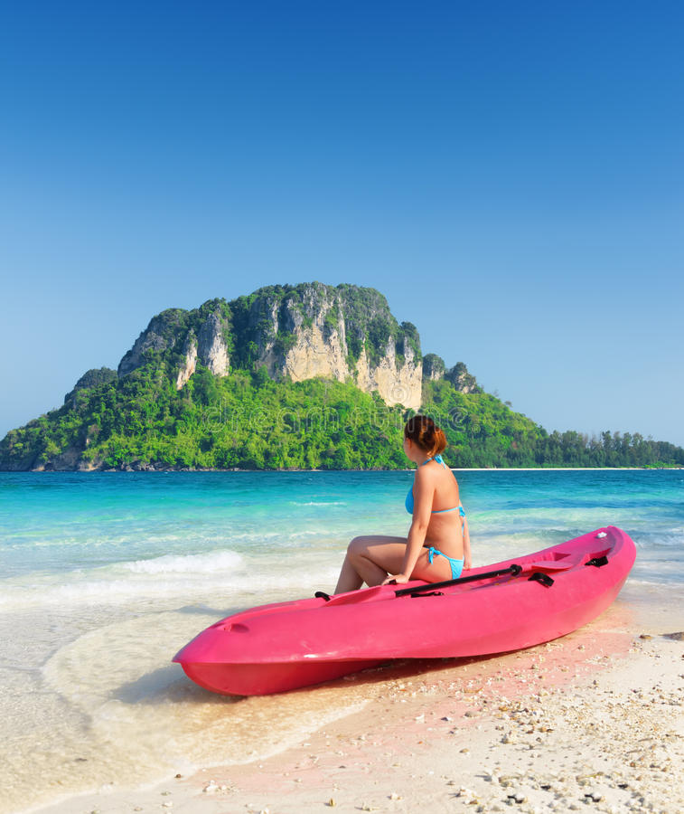 Download Clear Water And Blue Sky. Beach In Krabi Province, Thailand Stock Photo - Image: 33714062