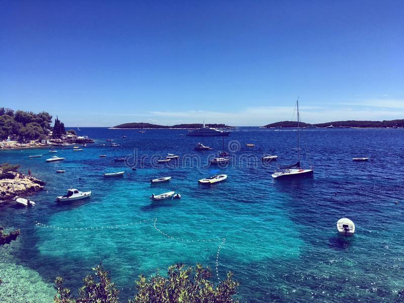 Blue Croatian beach stock photos