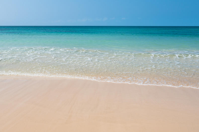 Clear water in Chaves beach Praia de Chaves in Boavista Cape Ve. Rde - Cabo Verde royalty free stock photos