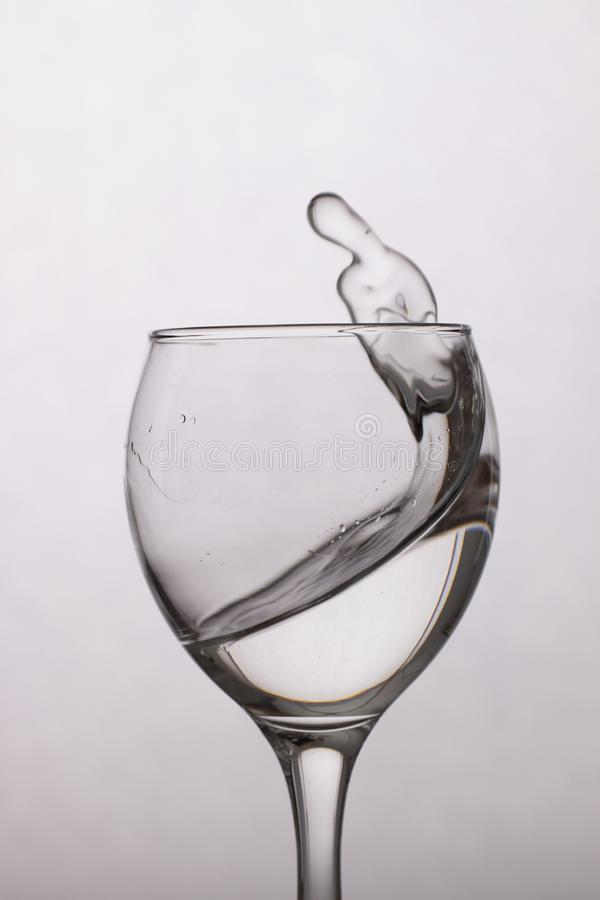 Clear water in a glass royalty free stock photos