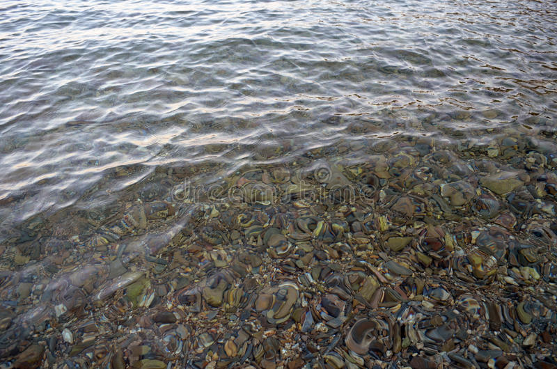 Clear Water & Sea rocks stock images