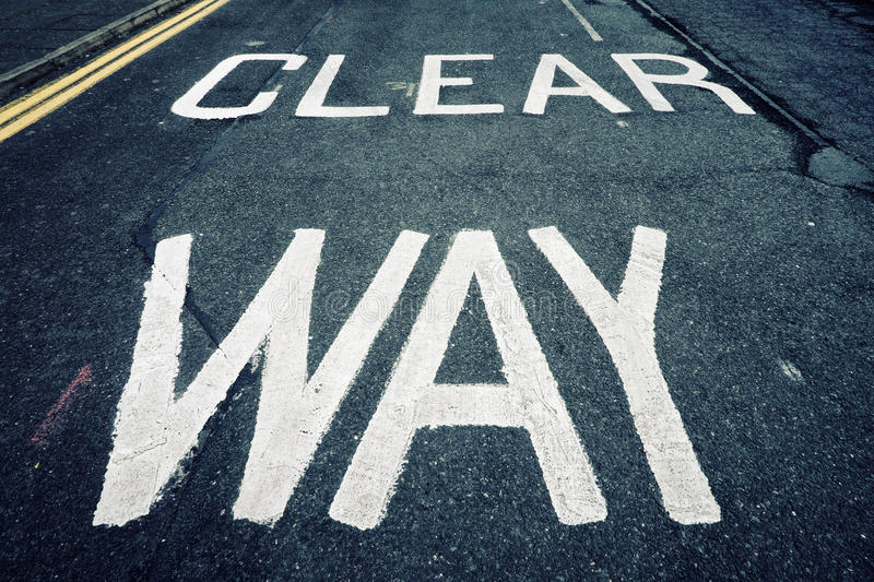 Download Clear way stock photo. Image of close, background, paint - 24680492