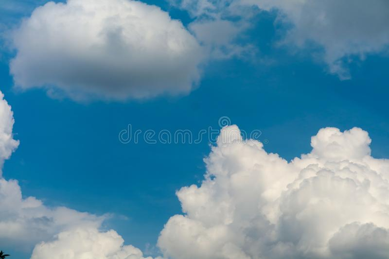clear white heap cloud sunshine in the blue sky soft sunlight royalty free stock photos