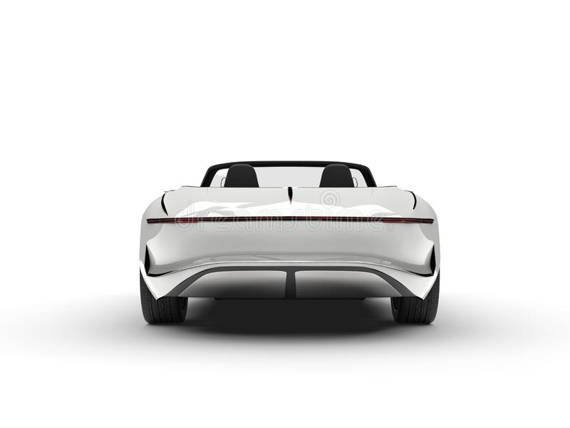 Clear white modern hi - tech concept car - back view royalty free illustration