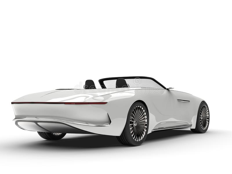 Clear white modern hi - tech concept car - tail view royalty free illustration