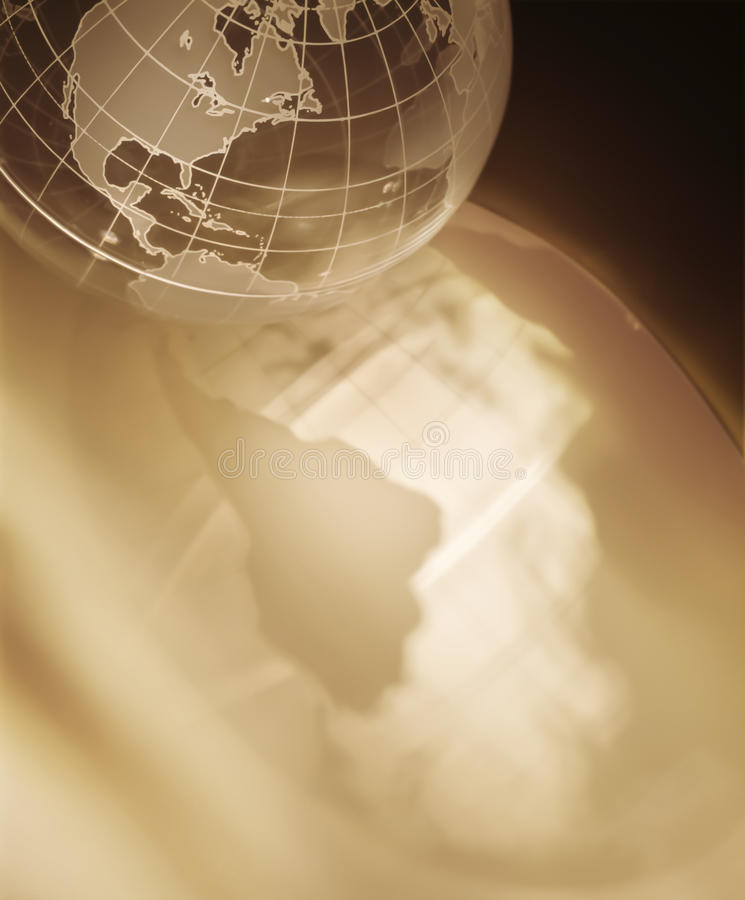 Clear World Globe with reflection. And copy space royalty free stock images