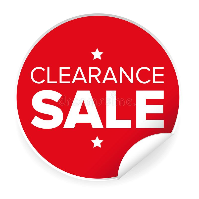 Free Clearance Sale Label Red Sticker Stock Images - 111525214