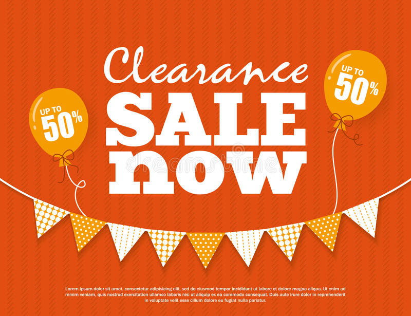 Clearance Sale Poster stock illustration