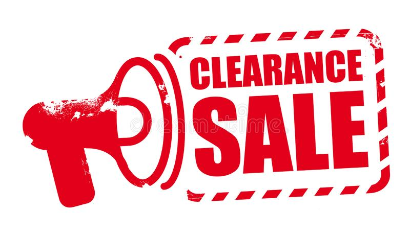 Clearance sale - red vector rubber stamp vector illustration