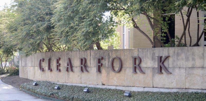 Clearfork poddział Fort Worth, Teksas obraz royalty free