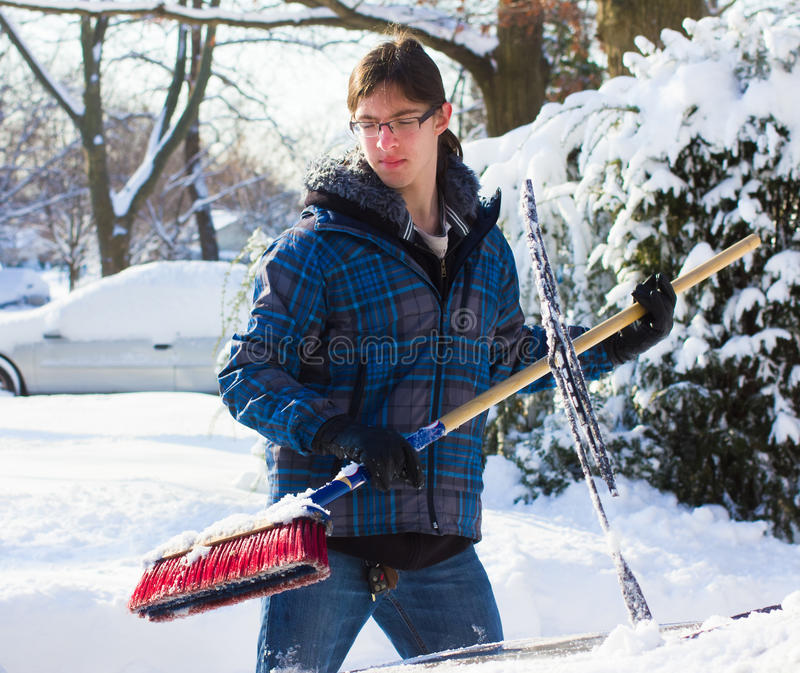 Download Clearing Snow Stock Photo - Image: 17874980
