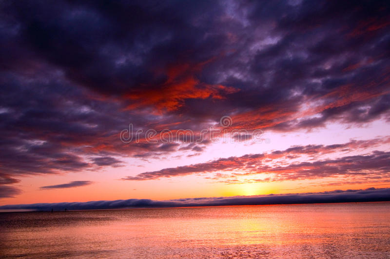 Clearing storm royalty free stock photos