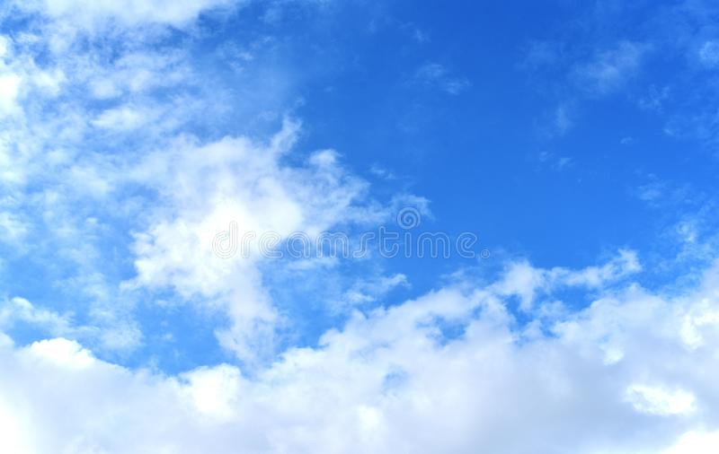 Blue sky background without dust pm 2.5 stock photo