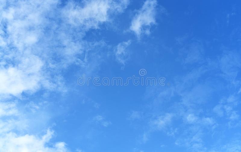 Blue sky background without dust pm 2.5 royalty free stock photo