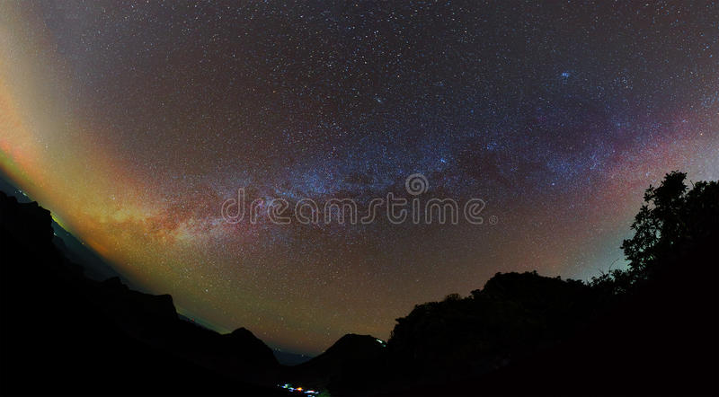Clearly milky way found on Doi Luang Chiang Dao. stock image