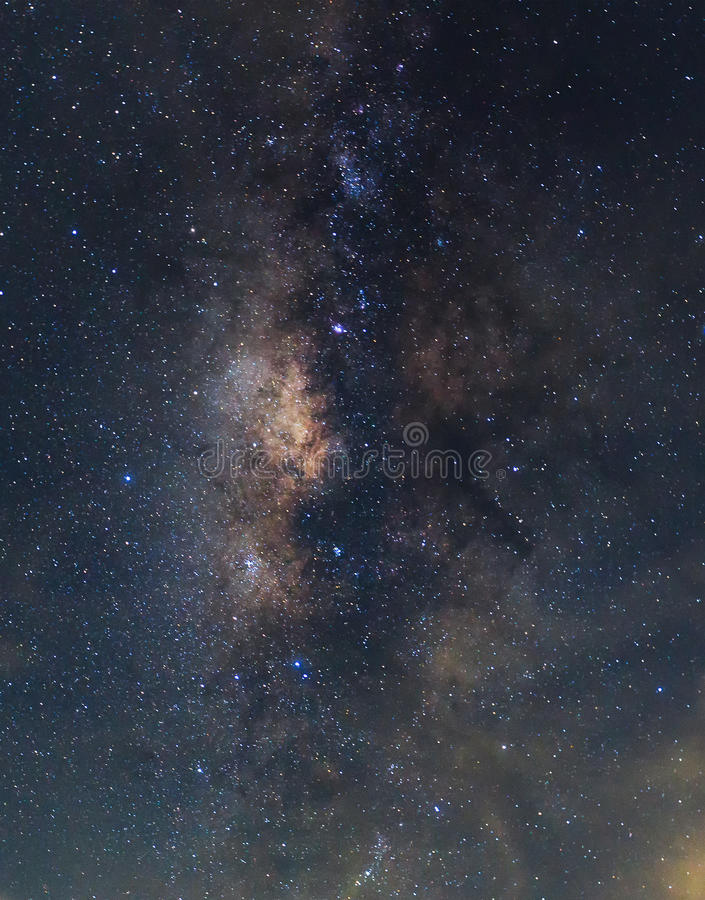Clearly milky way royalty free stock images
