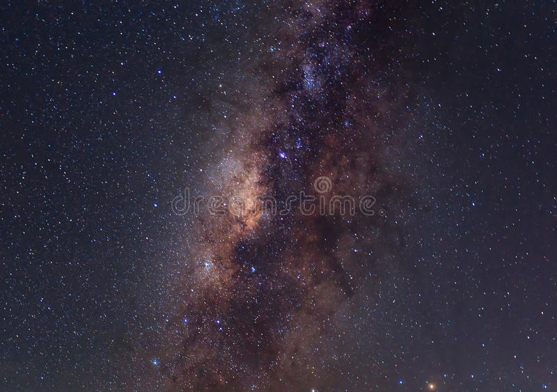 Clearly milky way royalty free stock photography