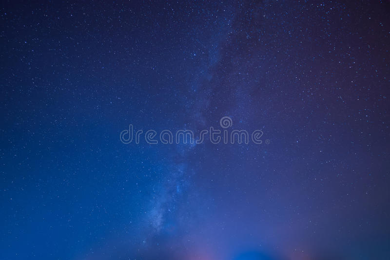 Clearly Milky way galaxy stock photos