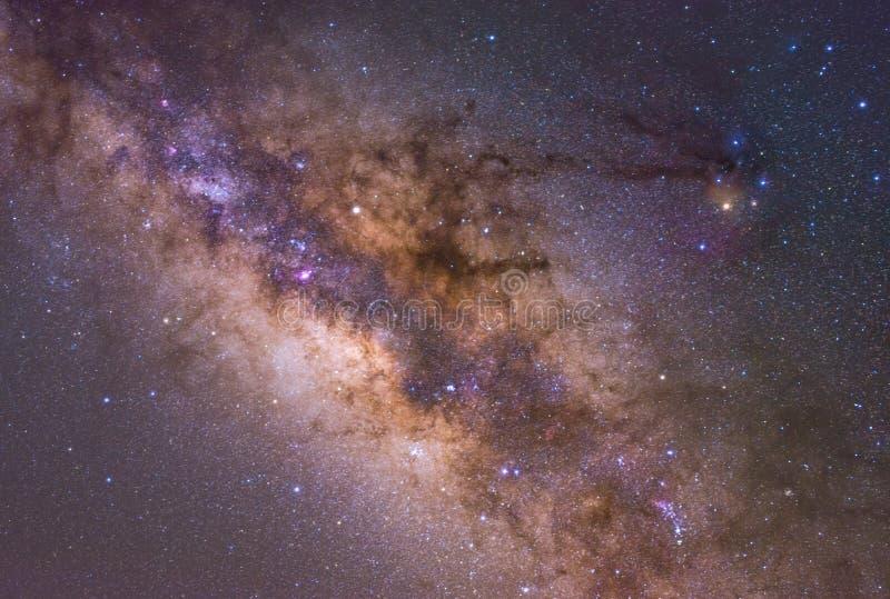 Clearly milky way on night sky. stock photos
