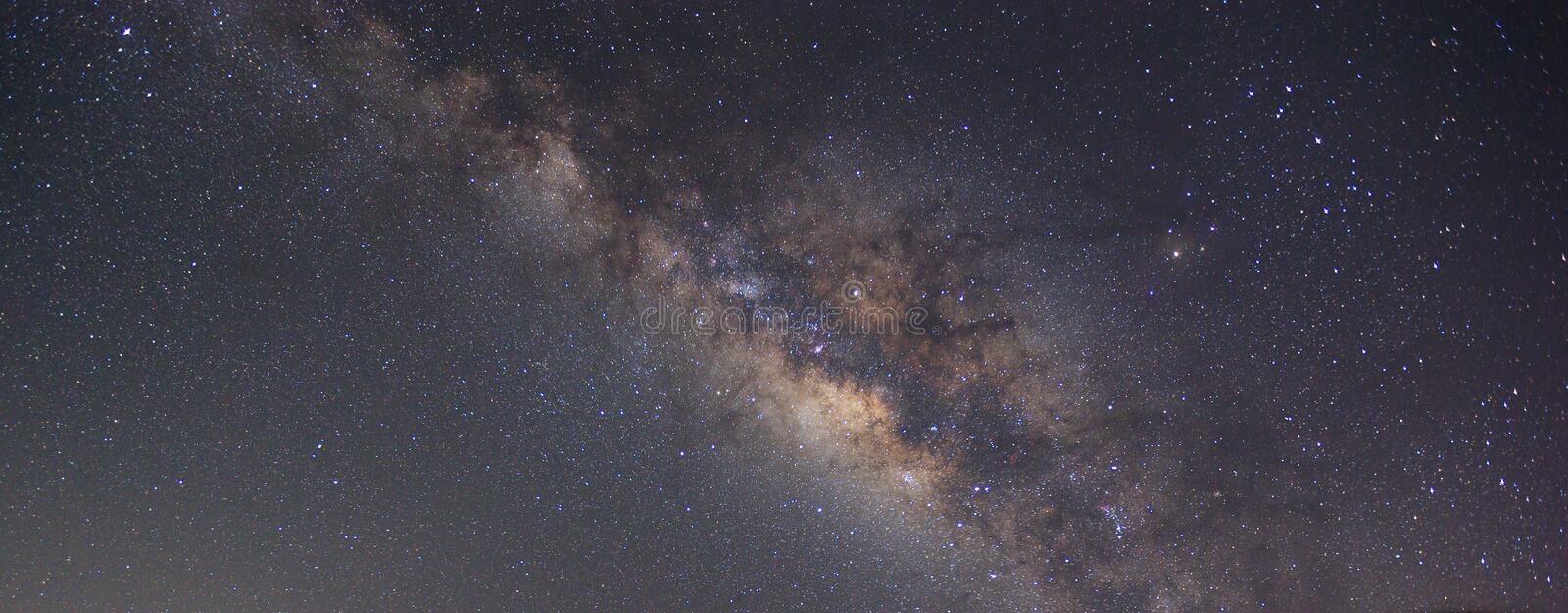 Clearly milky way on night sky found at Thailand royalty free stock photo