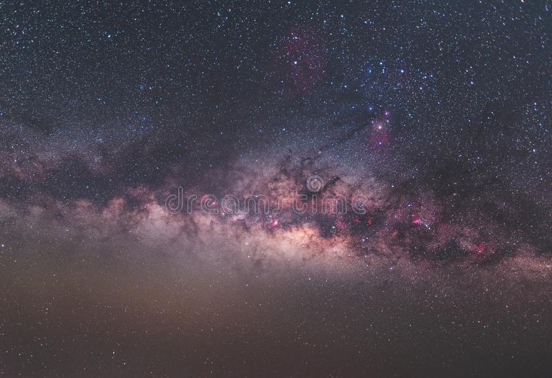 Clearly milky way on night sky with a million star royalty free stock photography