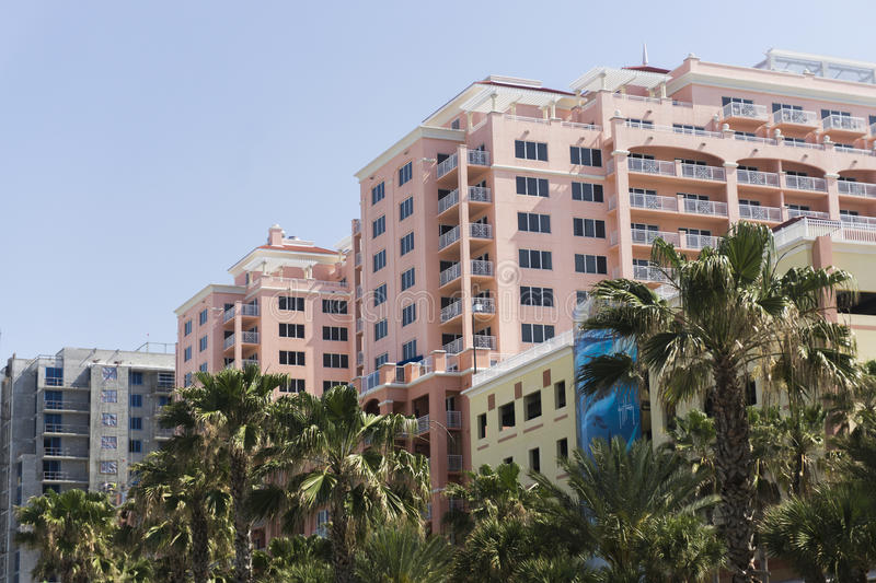 Clearwater Beach Florida. Buildings at Clearwater Beach area royalty free stock images