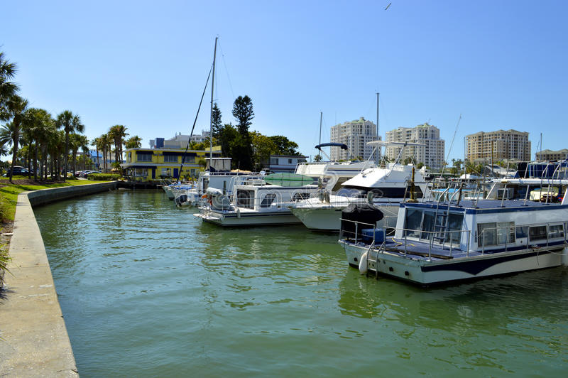 Clearwater Beach harbour. In Florida royalty free stock photos