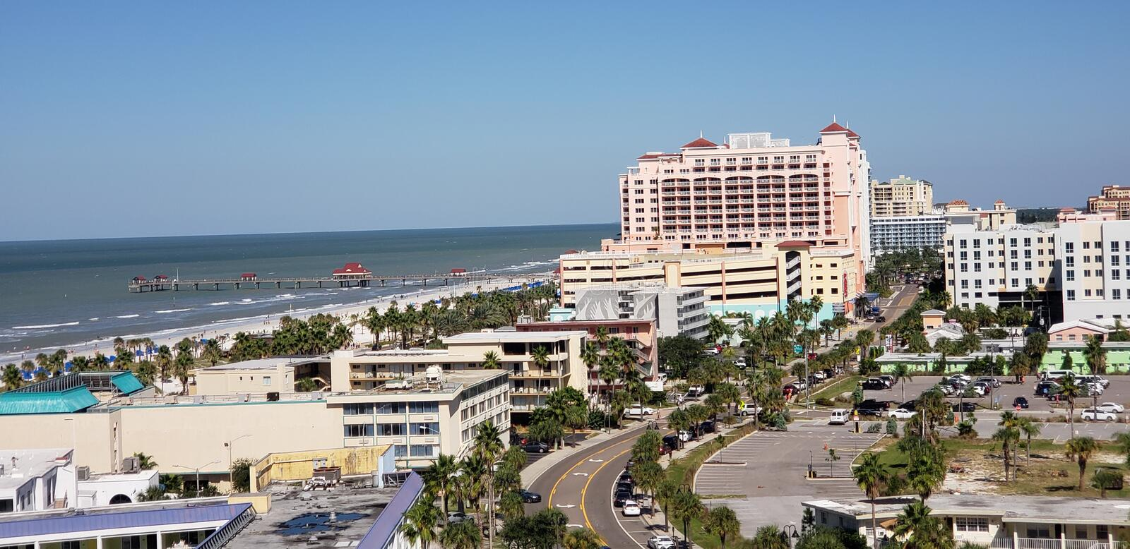 Clearwater beach, just voted the 1 beach in America. Clearwater beach has crystal clear water and super white and soft sand with award winning accommodations on stock photos