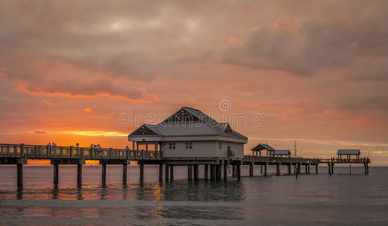 Clearwater Beach. Panoramic view of Clearwater Beach in Florida, USA at sunset royalty free stock photography