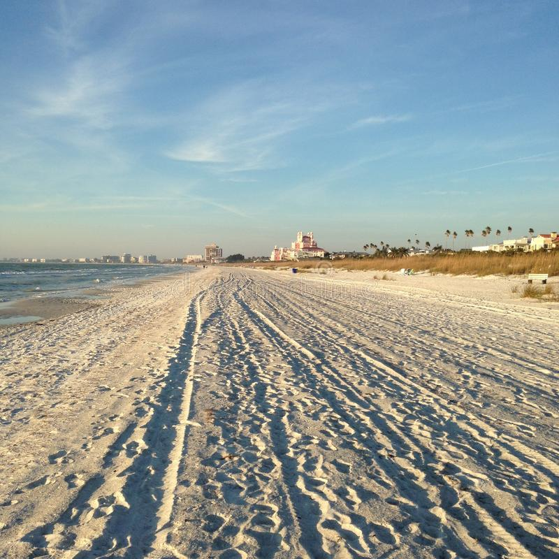 Clearwater, FL, plage ratissée image stock