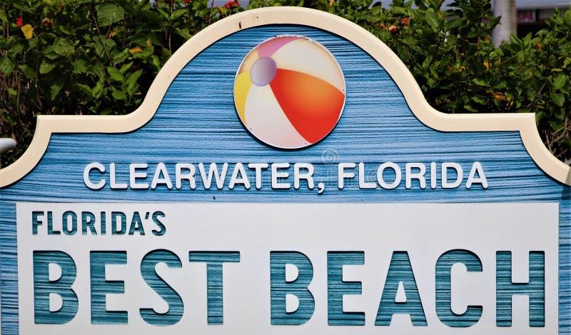 Clearwater Florida är #1 i Amerika igen i 2019 arkivbild