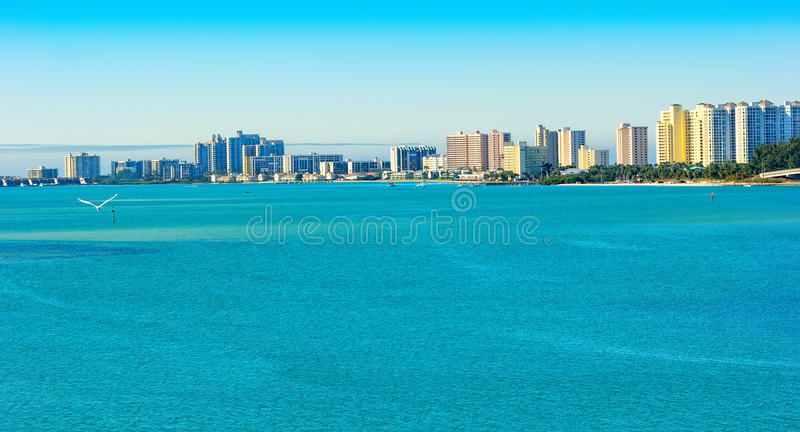 Clearwater, Florida. Panoramic view of the city of Clearwater Beach in Florida royalty free stock image