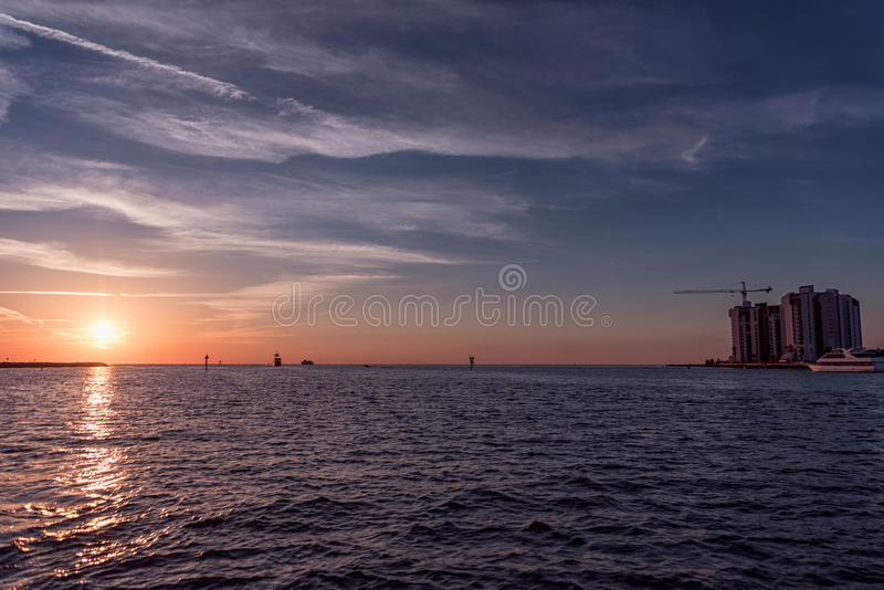 CLEARWATER, FLORIDA - MAY 04, 2015: Sunset in Clearwater, Florida. stock photography