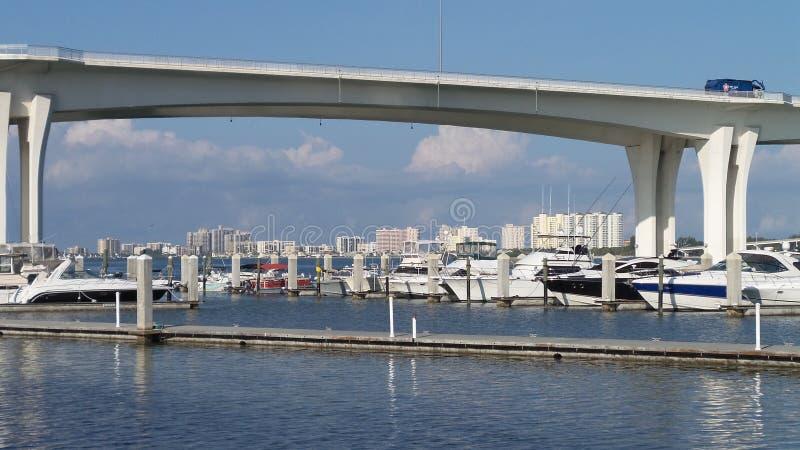 clearwater Florida-Municipalhafen lizenzfreies stockbild
