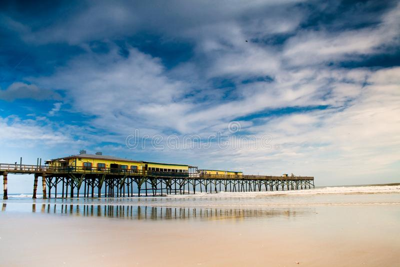 Clearwater Florida pier 60 on late summer afternoon royalty free stock image