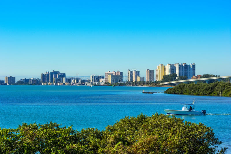 Clearwater, Florida. Scenic view of tropical and sunny Clearwater, Florida stock images