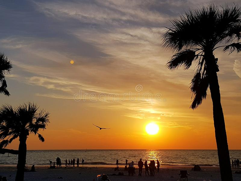 Clearwater, Florida State, United States. Clearwater sunset, Florida State, United States royalty free stock photography
