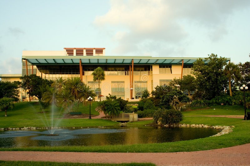 Clearwater Library and Coachman Park stock image