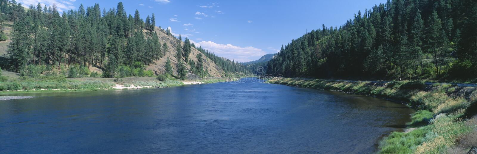 Clearwater River. Lewis and Clark 1805 expedition route, Idaho royalty free stock photography