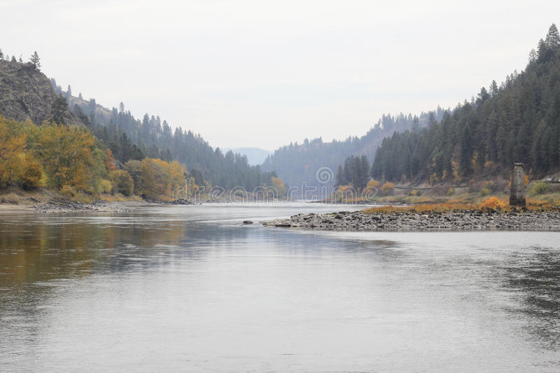 Clearwater river in Idhao. The Clearwater River is in the central Idaho joins the Snake River at Lewiston stock photography