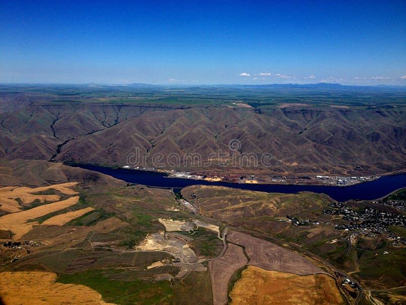 CLEARWATER rzeka I wąż rzeka CLARKSTON obrazy royalty free