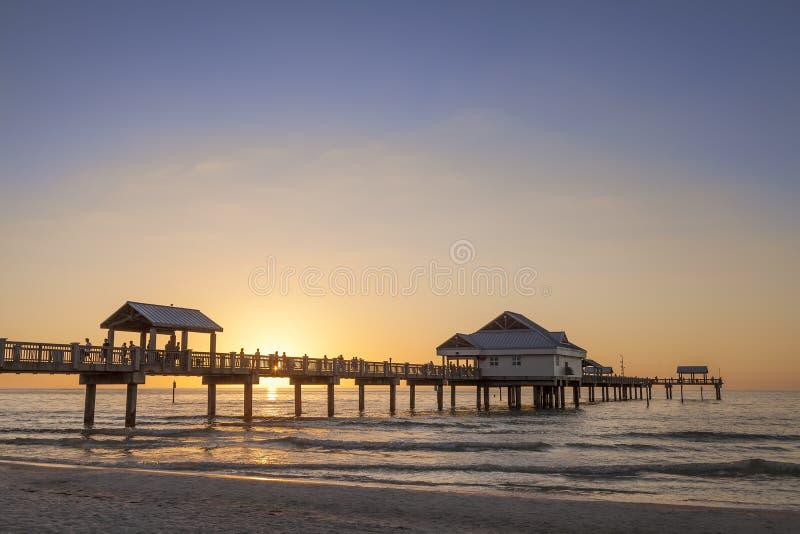Clearwater strand fotografering för bildbyråer