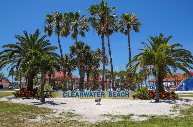 Clearwater Strand, Florida stockbilder