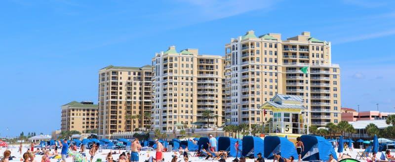 Clearwater strand och horisont royaltyfri bild