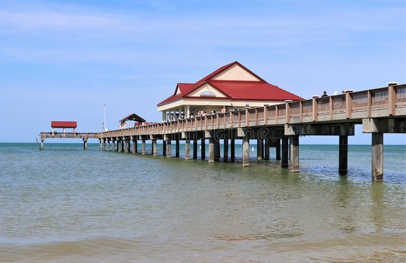 Clearwater strand och pir 60 royaltyfri fotografi