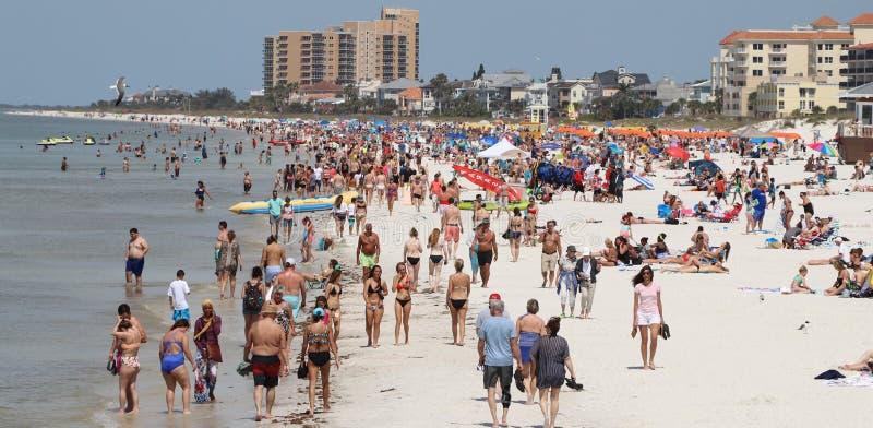 Clearwater strand under våravbrottet 2019 royaltyfria bilder