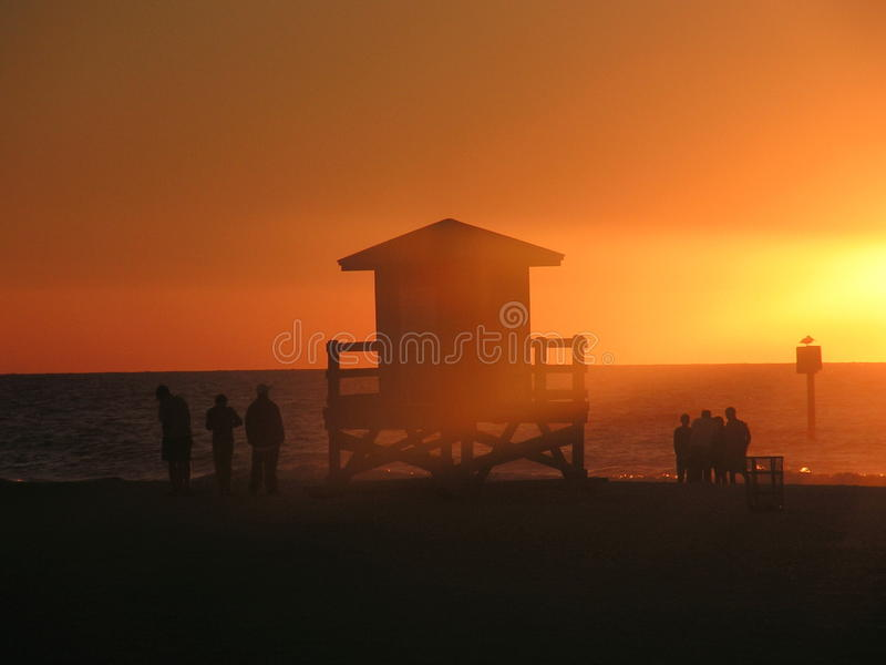 Clearwater Sunset royalty free stock images