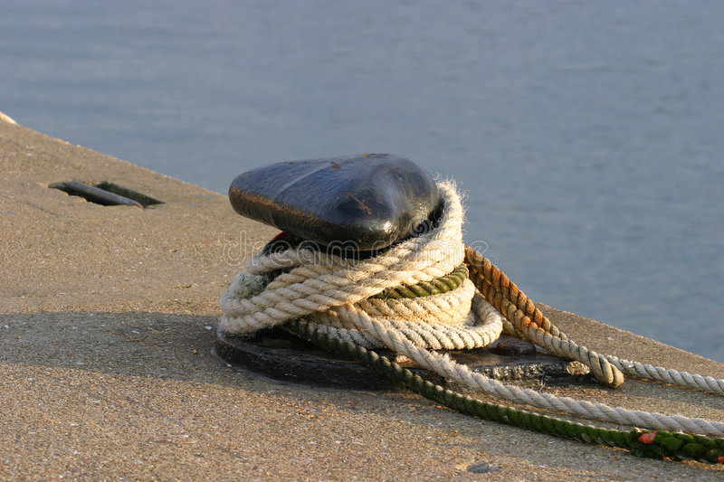 Download Cleat & Ropes stock image. Image of alongside, marine, anchor - 49769