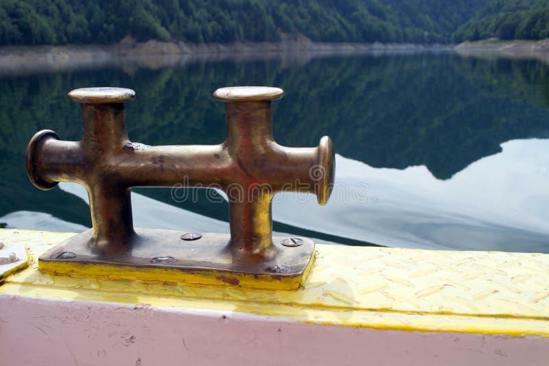 Cleat van de boot stock afbeelding
